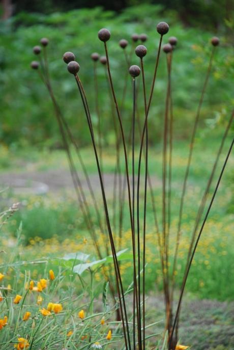 The garden as a pin cushion.